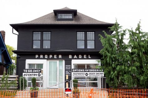 Proper Bagel will be closed until Oct. 24 as a result of road closures due to the presidential debate. (Hustler Multimedia/Mattigan Kelly)