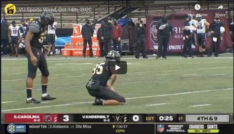 VU Sports Wired, Oct. 14: Commodores crumble against South Carolina