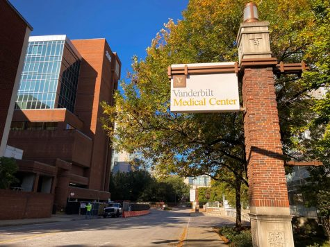 Sign located outside the Vanderbilt Medical Center, photographed on Oct. 16, 2020. (Hustler Multimedia/Hallie Williams)