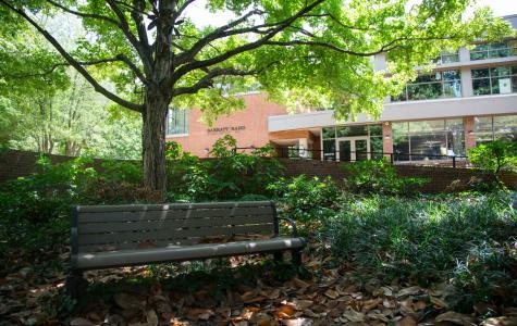 Vanderbilt's Sarratt Student Center, pictured above, is a short walk from Alumni Lawn. Sarratt is home to Vanderbilt Student Communications. (Hustler Multimedia/Claire Barnett)