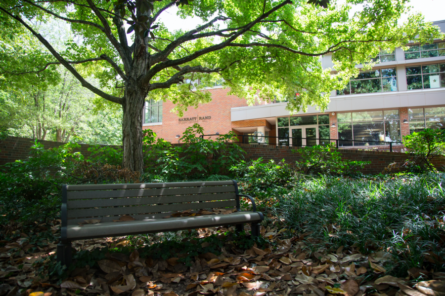 Vanderbilt's Sarratt Student Center, pictured above, is a short walk from Alumni Lawn. Sarratt is home to Vanderbilt Student Communications. (Hustler Multimedia/Claire Barnett)