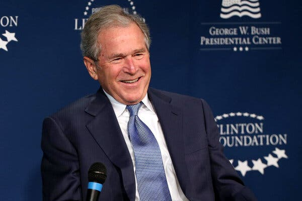 Former President George W. Bush. (Photo Courtesy New York Times)