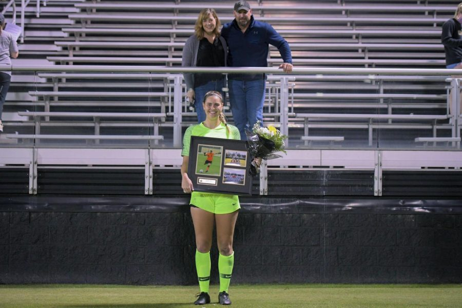 Vanderbilt soccer's Sarah Fuller on senior night against Ole Miss. (Hustler Multimedia/Truman McDaniel)