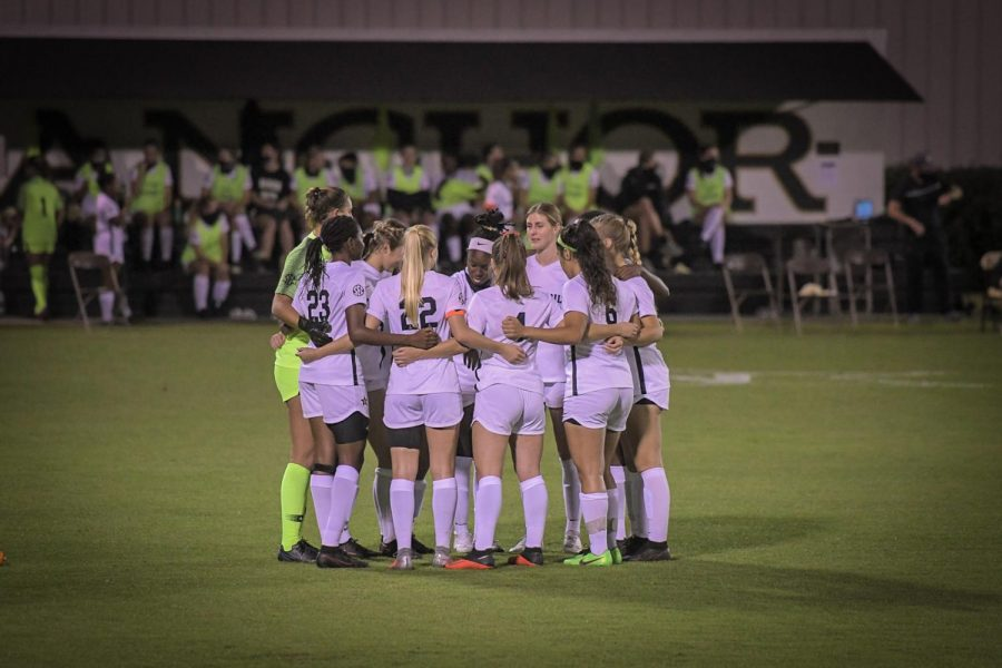 Vanderbilt soccer in its 2020 regular season finale against Ole Miss. (Hustler Multimedia/Truman McDaniel)