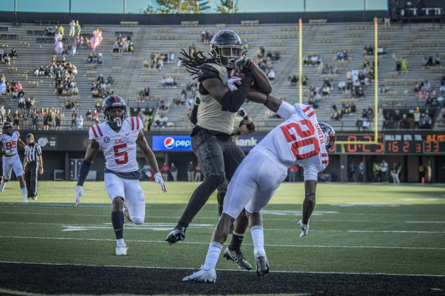 Vanderbilt Football competes against Ole Miss on October 31st 2020. (Hustler Multimedia/Truman McDaniel)