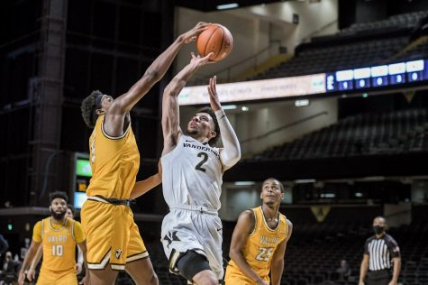 Scotty Pippen Jr. scored a career high 25 points in the Commodores season opening win. (Hustler Multimedia/Truman McDaniel).