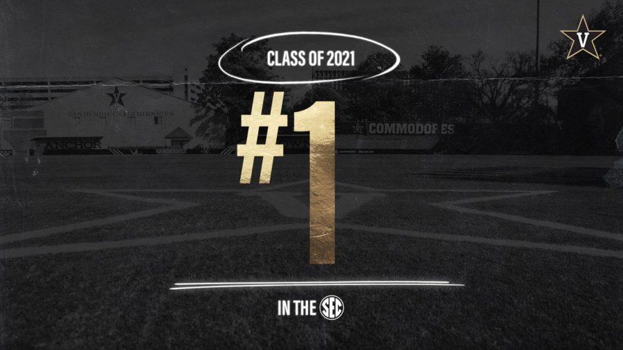 Vanderbilt soccer's class of 2025 ranked No. 1 in the SEC. (Twitter/@KenMasuhr_Jr)
