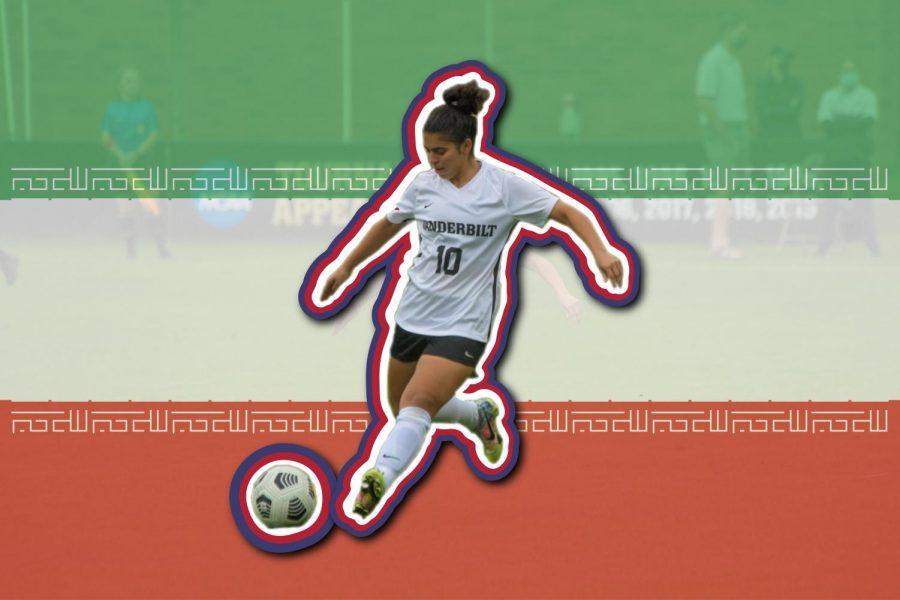 Kimya Raietparvar, a sophomore midfielder, represents both her school and her country. (Hustler Communications/Emery Little)