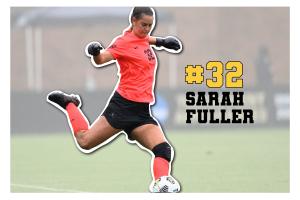 Sarah Fuller in goal. (Hustler Communications/Emery Little)