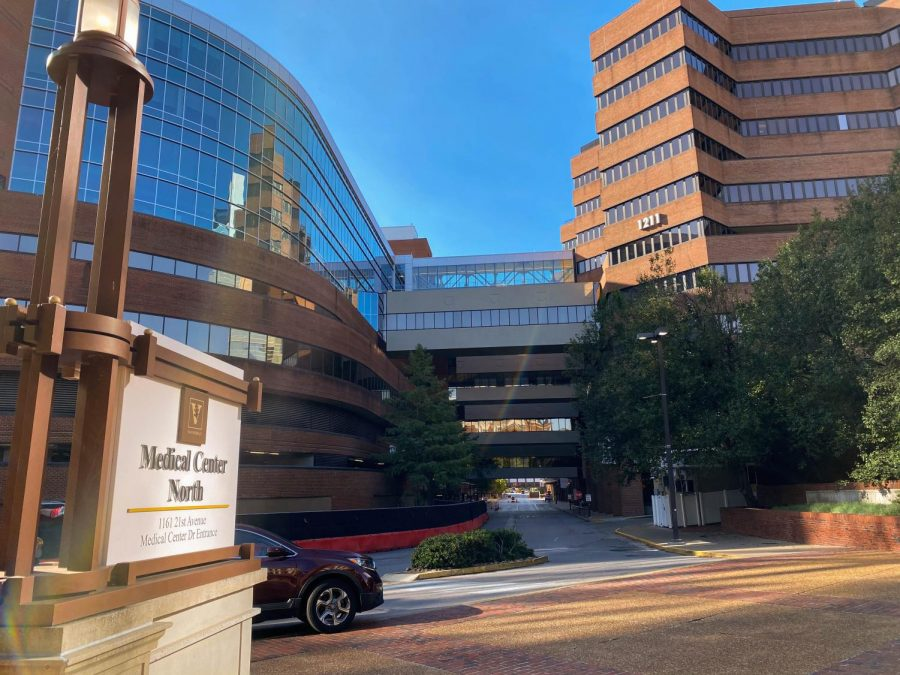 Vanderbilt University Medical Center  North, photographed on Oct. 16, 2020. (Hustler Multimedia/Hallie Williams)