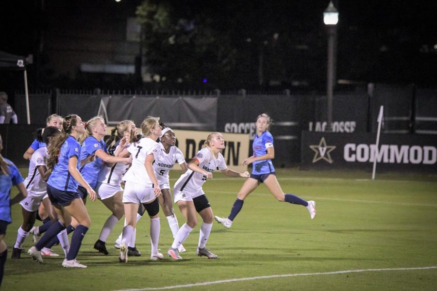 Vanderbilt soccer loses Senior night to Ole Miss in overtime. (Hustler Multimedia/Truman McDaniel)