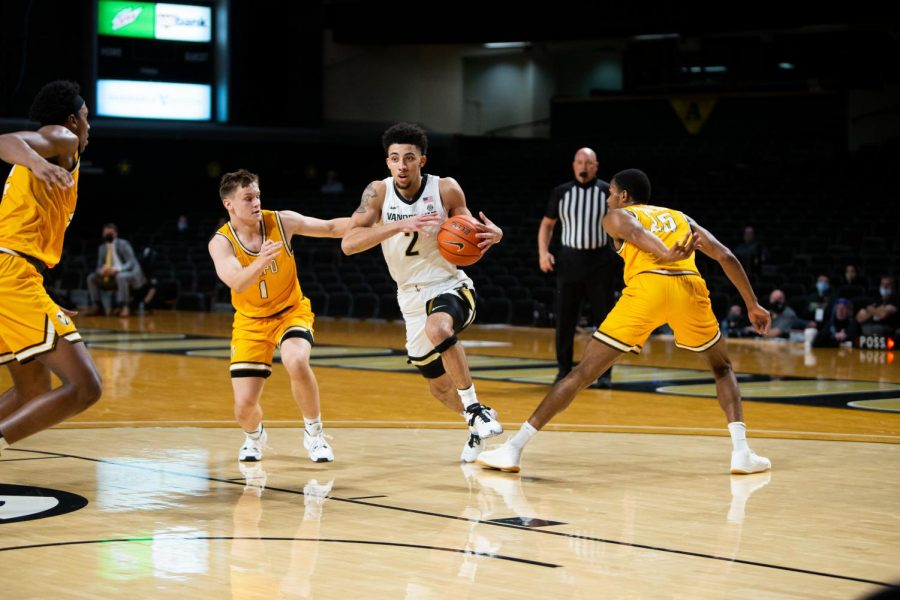 Scotty Pippen Jr. scored 25 points in Vanderbilt's season opening victory on Nov. 27. (Hustler Multimedia/Hunter Long).