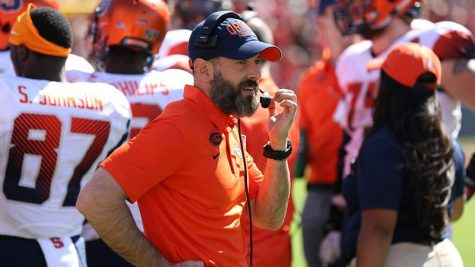 Justin Lustic coaching for Syracuse in 2018. (Syracuse Athletics)