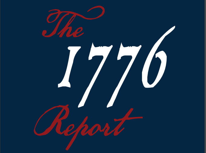 Title page of the 1776 Report. Screenshot captured on Jan. 31, 2021. (Screenshot/Jessica M. Barker)