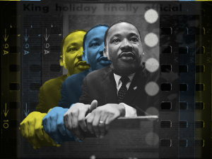 The first Federal King holiday was celebrated in 1986. Original photo of King taken by Marion S. Trikosko in 1964. (Hustler Staff/Miquéla Thornton)