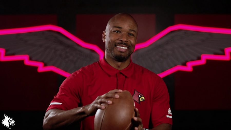 Norval McKenzie as the running backs coach at Louisville. (Louisville Athletics)