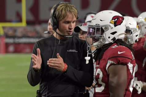 David Raih served two seasons as the Arizona Cardinals wide receivers coach. (USA TODAY Sports/Kirby Lee).