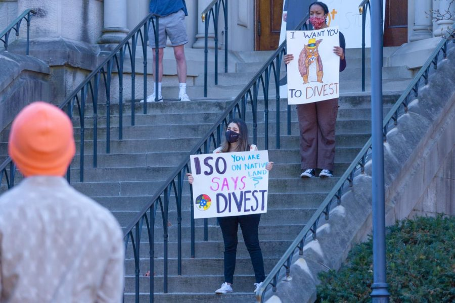 There were multiple guest speakers from DivestVU and Vandy Divest on Tuesday, Feb. 23, 2021. (Hustler Multimedia/Emery Little)