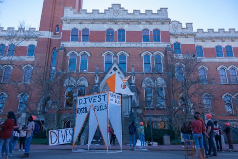 DivestVU, Dores Divest hold an over 30-person protest at Kirkland Hall
