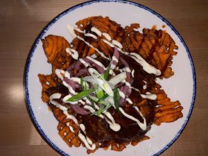 Sweet potato BBQ fries at new Southern eatery: Jasper's (Hustler Staff/Sophie Edelman)