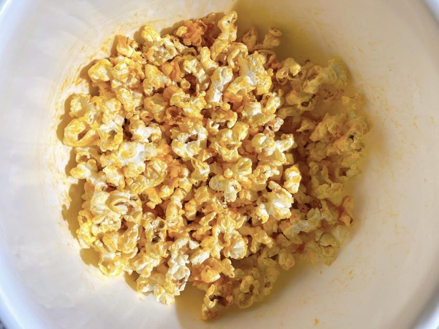 Buffalo popcorn makes the perfect Super Bowl snack. (Hustler Staff/Charlotte Edmunds)