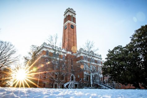 Kirkland Tower after heavy snowfall on Friday Feb. 19, 2021 (Hustler Multimedia/Hunter Long)