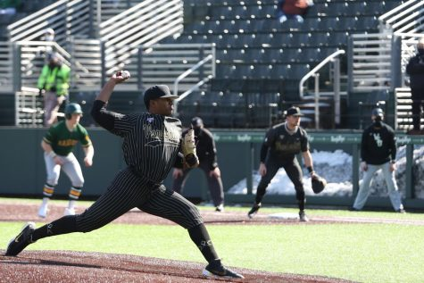 Kumar Rocker pitches against Wright State in Vanderbilt
