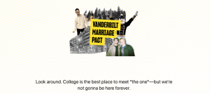 Vanderbilt Marriage Pact survey website directs you to find your match. (Hustler Staff/Eva Pace)
