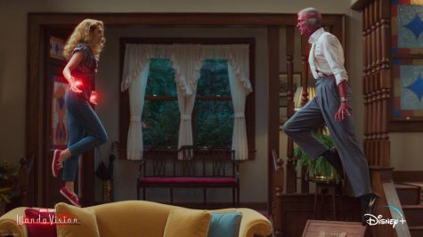 Wanda and Vision have their first heated argument of the series as the Westview illusion threatens to topple down around them. (Marvel Studios/WandaVision)