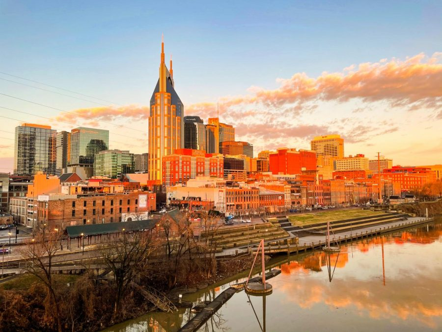 The sun rises over downtown Nashville Feb. 13. (Hustler Multimedia/Hallie Williams)