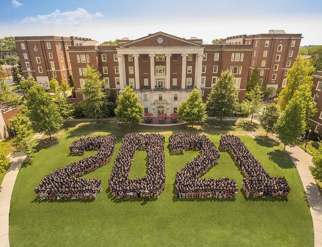 Class of 2021 student body. (Photo courtesy Vanderbilt University)