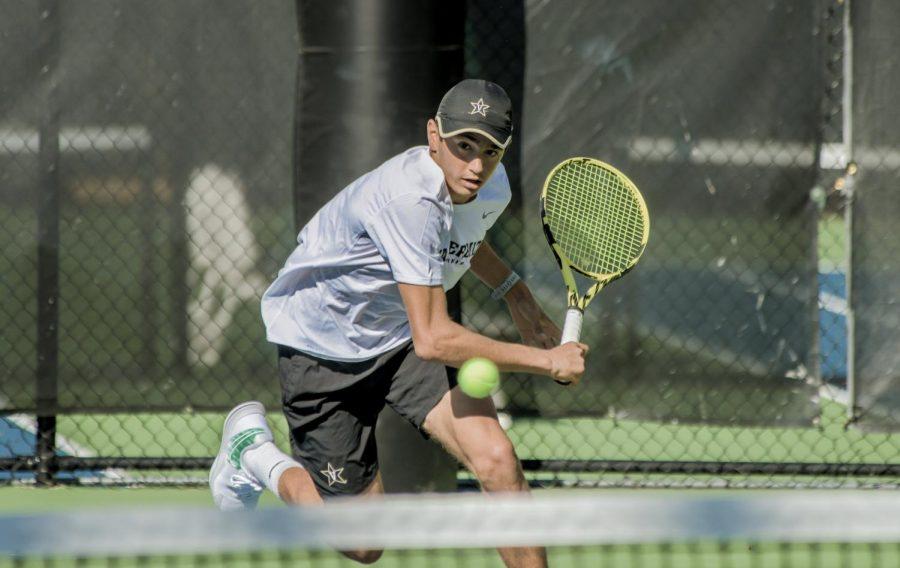 Vanderbilt men's tennis faces DePaul on March 24. (Twitter/@VandyMTennis)