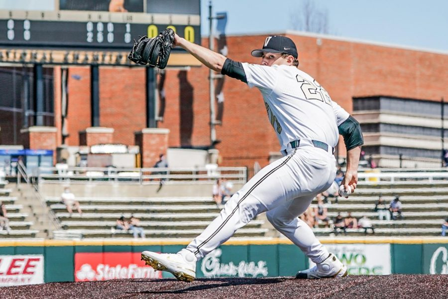 Jack Leiter pitches a no hitter against South Carolina on Saturday, March 21, 2021. (Hustler Multimedia/Truman McDaniel)