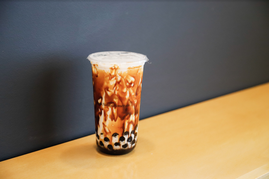 Tiger Milk Boba Tea from Banh Mi and Roll+ was the perfect end to a savory meal (Hustler Multimedia/Elle Choi)