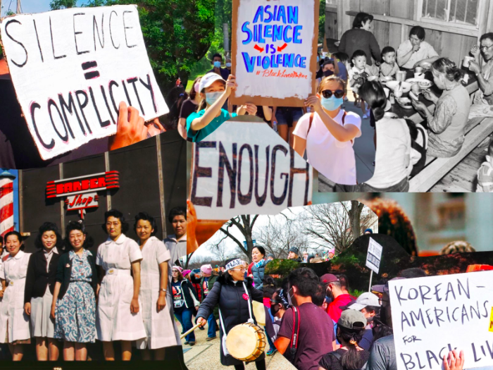 Collage made by Iris Kim. (Photos from Unsplash and courtesy of the Asian American Christian Collaborative)