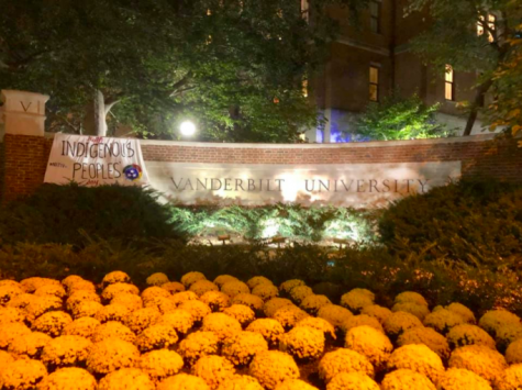 Indigenous People's Day Banner from Fall 2019. (Photo provided by Indigenous Scholars Organization).