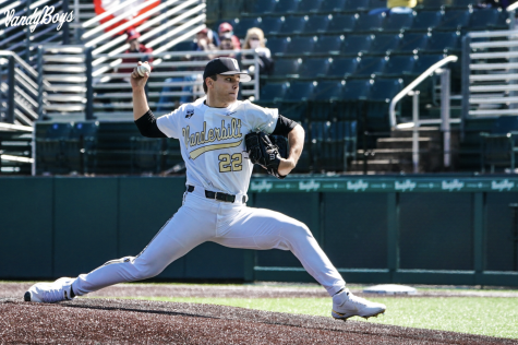 Jack Leiter in his complete-game no-hitter against South Carolina on March 20 2019. (Twitter/@VandyBoys)