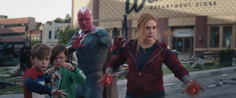 "The superpowered Maximoff family stands together ready to face anything in the ""WandaVision"" finale. As Wanda taught her boys, family is forever. (Marvel Studios/WandaVision)"