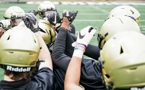 Vanderbilt Football during 2021 spring practice. (Twitter/@VandyFootball)