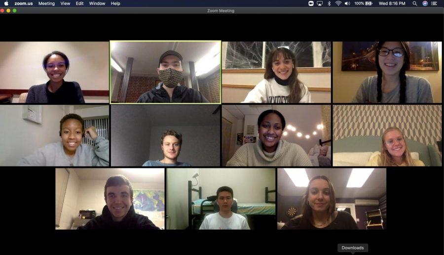 A Vanderbilt Toastmasters club meeting on Zoom (Screenshot by Mackenzie Moore)