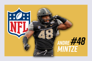 Andre Mintze declares for the 2021 NFL Draft. (Hustler Communications/Emery Little)