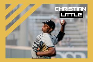 Christian Little delivers a pitch. (Hustler Multmedia/Emery Little)