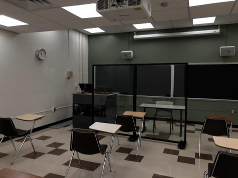 Empty classroom on Vanderbilt
