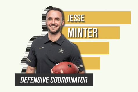 Jesse Minter joined Vanderbilt football as its defensive coordinator in January 2021. (Hustler Communications/Emery Little)