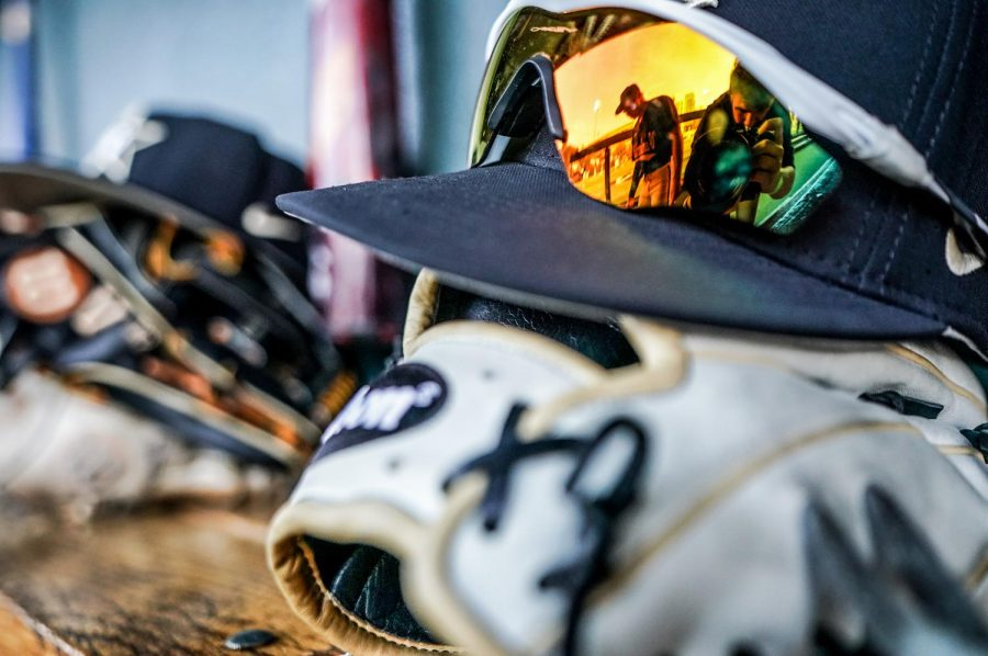 Players leave their love and sunglasses in the dugout against Tennessee Tech on Tuesday, March 30th, 2021. (Hustler Multimedia/ Truman McDaniel)