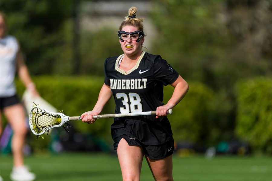 Elizabeth Scarrone scored a goal and had one assist against East Caroline on March 26, 2021. (Vanderbilt Athletics)