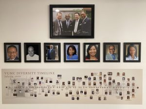 VUMC Diversity Timeline, images of underrepresented people and discoveries
