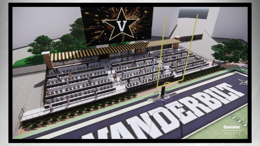 Vanderbilt announces new premium seating in the north end zone of Vanderbilt Stadium. (Vanderbilt Athletics)