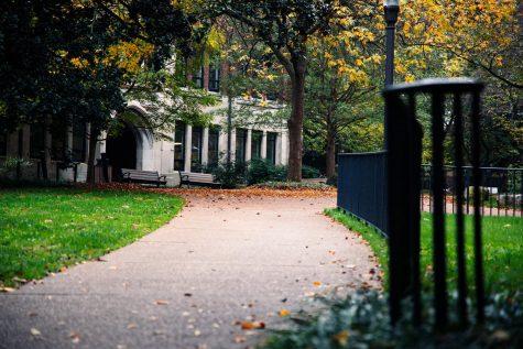 Empty path on campus