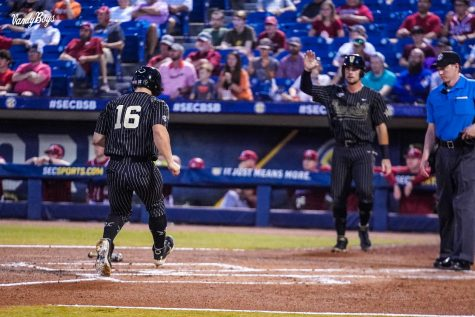 The Commodores will now face Ole Miss once again in an elimination game on Friday. (Twitter/@VandyBoys).